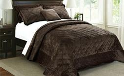 Home Soft Things Serenta Super Microplush Quilted 4 Piece Be