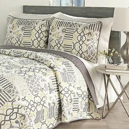 set in spring 3 piece reversible quilt