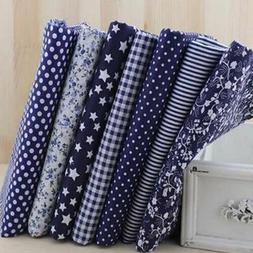 """Set of 7 Pieces Pre Cut Charm Cotton Quilt Fabric 9.7"""" Fat Q"""