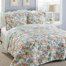 Laura Ashley Sherborne Queen Size Quilt Set Brand New