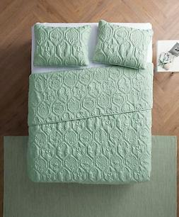 Queen Size Quilt Set in Green Charming Beach Beautiful Blank