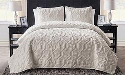NEW Victoria Classics Shore Quilt Set - Sand - Size: King -