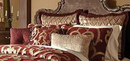 SKB Family Corsica Comforter Set - RED Collection Modern Sop