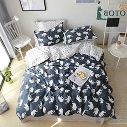 ORoa Soft Cute Cartoon Animal Elephant Bedding Duvet Cover T