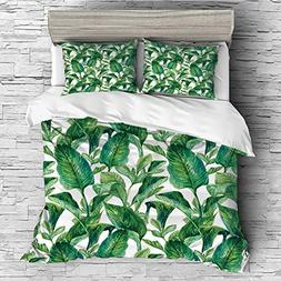 iPrint Soft Luxurious 4 Pcs Decorative Quilt Duvet Cover Set