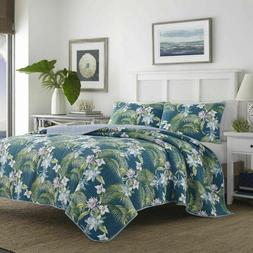Tommy Bahama Southern Breeze 3PC FULL QUEEN QUILT SET  Dark