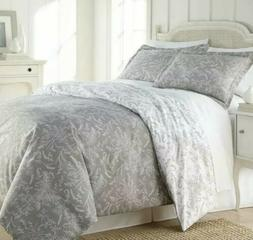 Southshore Fine Linens - Full/ Queen Gray White- Quilts Sets