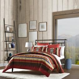 Southwest Queen Reversible Comforter Quilt Bed 5pc Set 4 Sha