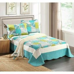 Spring Pond 3 Piece Patchwork Quilt Set by Tache Home Fashio
