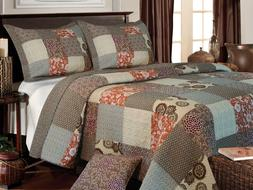 Greenland Home Fashions Stella Quilt Set, King , New, Free S