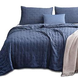 KASENTEX Quilt-Coverlet-Bedspread-Blanket-Set + Two Shams, U