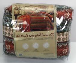 Striped Classical Cotton 2-Piece Patchwork Bedspread Quilt S