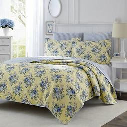 Summer Bedding Linley Quilt Set 3 Pcs Full Queen Size Comfor