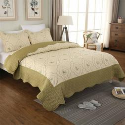 Summer Lightweight Bedspreads King Queen Size Coverlet Set F