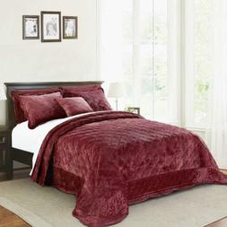 """Home Soft Things Supersoft Bedspread & Coverlet Set, 110"""" x"""