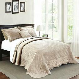 """Home Soft Things Supersoft Bedspread & Coverlet Set, 120"""" x"""