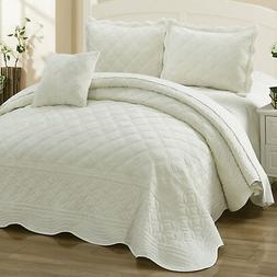 Home Soft Things Supersoft Microplush 4 Piece Quilted Coverl