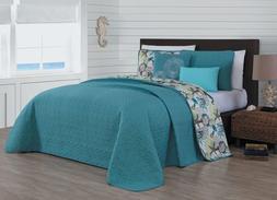 Avondale Manor Surf City 5-Piece Quilt Set, Queen, Blue