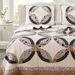 Greenland Home Fashions Sweet Caroline Authentic Patchwork Q