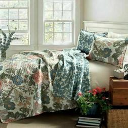 Lush Decor Sydney 3 Piece Reversible Quilt Set, Size King Ne