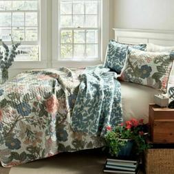 Lush Decor Sydney Reversible Quilt Set  KING  3 pc
