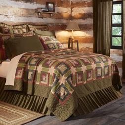 TEA CABIN QUILT SET - choose size & accessories - Log Cabin