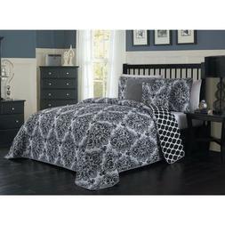 Avondale Manor Teagan Damask Reversible King 5-Pc Comforter