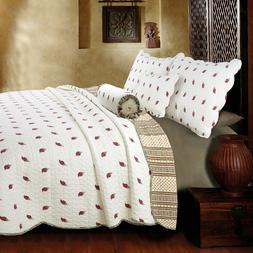 Thisnes Paisley 100%Cotton 3-Piece Quilt Set, Bedspread, Cov