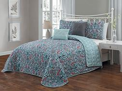 Avondale Manor Trista 5-Piece Quilt Set, Queen, Multicolor