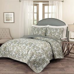 Traditions by Waverly 15279BEDDQUESPA Tulip Toile 90-Inch by