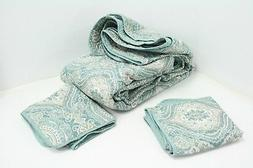 Tommy Bahama Turtle Cove Quilt Set Green King w Pillow Shams