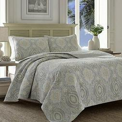 Tommy Bahama Turtle Cove Reversible Quilt Set Full/Queen Pel