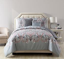 Twin XL Comforter Set : Boho Chic Paisley Design , All Seaso