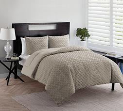 Twin XL Comforter Set : Embossed Luxe Geometric Design , All