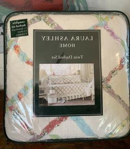 Laura Ashley Twin Daybed Quilt Set/5 Ruffled Garden Quilt Sh