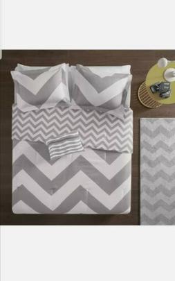 Twin/Twin XL Size Libra Comforter Set Micro Fiber Grey Trend