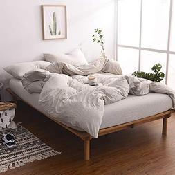 MisDress Jersey Knit Cotton Duvet Cover Set 3 Pieces, 1 Duve