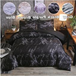 Ultra Soft Premium Goose Down Alternative Marbled Comforter