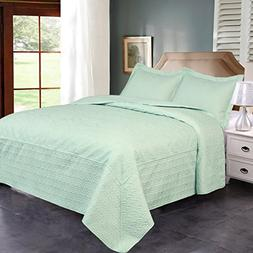 Jml Ultrasonic Quilt Set Twin Size - Brushed Microfiber - So
