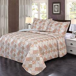 Jml Ultrasonic Quilt Set Twin Size - Brushed Microfiber - 2
