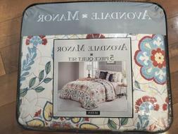 Geneva Home Fashion Avondale Manor Valena 5-Piece Quilt Set,