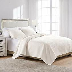 Greenland Home Vashon Full/Queen Quilt Set Ivory Bedroom Dia