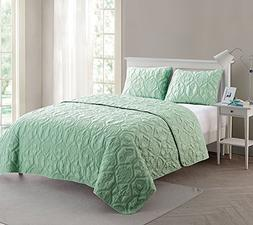 VCNY Home Shore Polyester 3 Piece Quilt Set, SUPER SOFT Quil