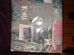 VCNY Reversible Quilt Set Queen 3 Piece