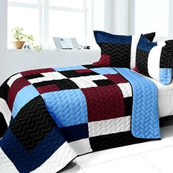 3PC Vermicelli - Quilted Patchwork Quilt Set