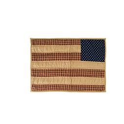 VHC Brands Patriotic Patch Placemat Quilted Set of 6 12x18