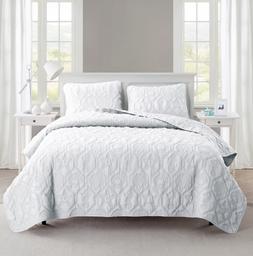 NEW Victoria Classics Shore 3-Piece Quilt Set - White - Size