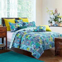 "Virah Bella® Collection - ""Enchanted Teals"" Printed Quilt S"