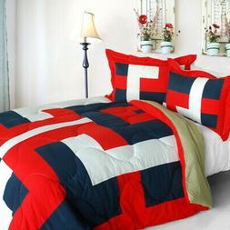 Quilted Patchwork Down Alternative Comforter Set