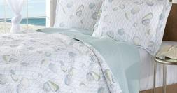 Laura Ashley WEEKEND GETAWAY King Size Quilt Set Brand New